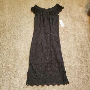 NWT Nanette Lepore Black Lace Off Shoulder Dress